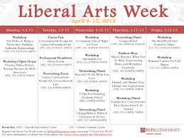career center ex libris liberal arts week schedule