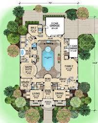 Mediterranean house plans  Mediterranean houses and Pools on Pinterest