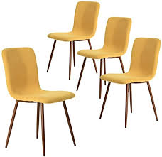 Coavas <b>Dining Chairs</b> Set of 4, Kitchen Chairs with <b>Fabric</b>