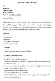 hr resume cv templates   hr templates  free  amp  premium    sample resume for hr assistant