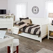 furniture white wooden daybed with bedding for black furniture