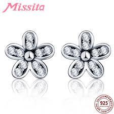 2019 <b>MISSITA 100</b>% <b>925</b> Sterling Silver Cherry Blossoms Earrings ...