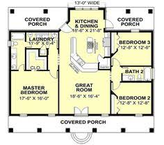 One story houses  First story and Square feet on PinterestCountry Style House Plans   Square Foot Home   Story  Bedroom and