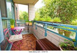 balcony of condo with patio furniture and plants stock image balcony condo patio furniture
