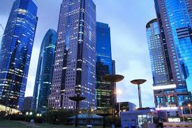 shanghai lujiazui office building of the beautiful city of night by zhengsheng beautiful office building
