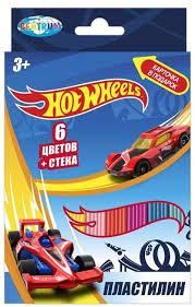 """<b>Пластилин</b> 6 цветов """"<b>Hot</b> Wheels"""" 120 г со стеком <b>Centrum</b> 88618 ..."""