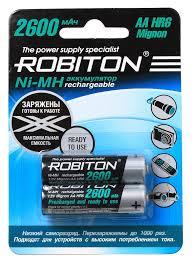 <b>Аккумуляторы AA Robiton</b> NiMH 2600 мА·ч (2 шт.) / Купить с ...