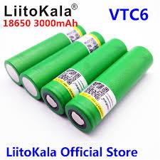 4pcs <b>Liitokala</b> New 100% <b>Original 3.6V US18650</b> VTC6 3000mAh ...