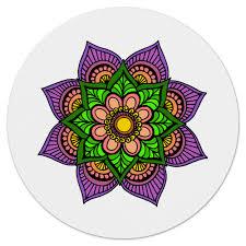 <b>Коврик для мышки</b> (круглый) Яркие цветок мехенди #2579984 от ...