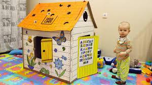 Развивающий <b>дом раскраска</b> BIBALINA | <b>Картонный</b> домик ...