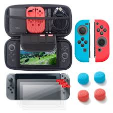 Nintendo Switch 6 items <b>Starter Kit</b>, by Insten Carrying Case <b>EVA</b> ...
