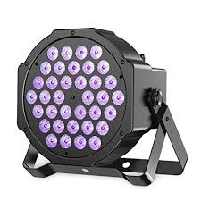 Gledto 36LED <b>Blacklight UV LED</b> Stage Light <b>Par</b> Lights DMX <b>Black</b> ...