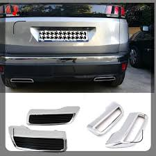 <b>2PCS ABS Rear</b> Exhaust Muffler <b>Tail</b> End Pipe Cover for Peugeot ...