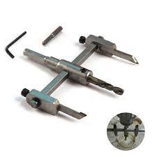<b>30</b>-<b>130mm Adjustable Metal</b> Woodworking Cutter Kits Hole Saw Drill ...