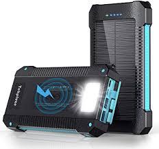 Solar Power Bank 30000 mAh, Wireless Portable ... - Amazon.com