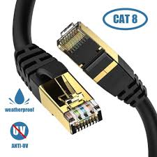<b>Ethernet Cable</b>, <b>Cat8</b> 6FT LAN Outdoor 6FT, BLACK | Best Buy ...