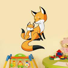cute Fox Wall <b>sticker Decal</b> Cute <b>Wild</b> Animals Fox Wall <b>Sticker</b> for ...