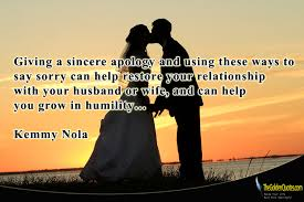 Sincere Apology Quotes. QuotesGram