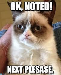 Ok, Noted! - Grumpy Cat meme on Memegen via Relatably.com