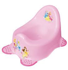 disney princess kids padded toilet seat potty training amazon co disney baby princess steady potty non slip feet