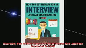 book interview how to best prepare for an interview and land 00 09
