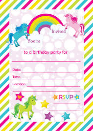 fill in birthday party invitations printable rainbows and fill in birthday party invitations printable rainbows and unicorns invitations blank party invitation