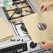 Stovetop Reusable Aluminum Foil <b>Gas Stove Protectors</b> Cover/Liner ...