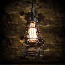 lighting cage. small bird cage shaped wrought iron pendant industrial lighting n