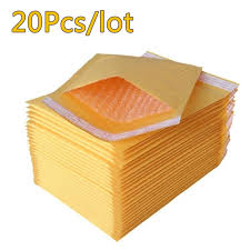 <b>20pcs</b>/lot Bubble Bags <b>Mailers</b> Padded Envelopes Paper Mailing ...