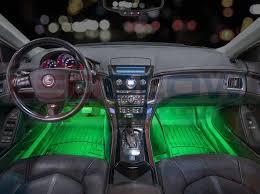 LEDGlow 4pc <b>7 Color LED</b> Car Interior Lights