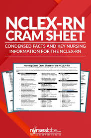 best ideas about becoming a registered nurse nursing exam cram sheet for nclex rn