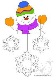 Decorazione Finestre Neve : Addobbi invernali pupazzo di neve