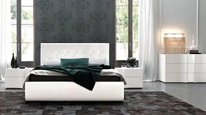 amazing white wood furniture sets modern design: amazing prestige white finish modern platform bedroom set sma furniture also italian bedroom furniture