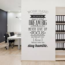 free shipping wall mural quotes work hard vinyl art wall decal letras decorativas home decor wall cool office decor walls work office