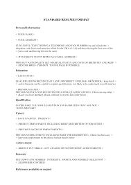 standard college resume format college resume  resume