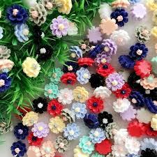 Mega Deal #9d1e0 - 50pcs 12*<b>13mm Resin</b> Lovely Flower Flat Back ...