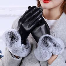 1 пара <b>теплых</b> элегантных искусственной кролика ПУ кожаные ...
