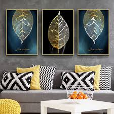 <b>BALLEAY ART 3D Decorative</b> Canvas Painting Wall Picture Gold ...