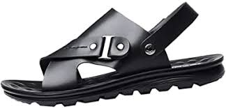 Men's Soft Leather Sandals Fashion Slippers Flip ... - Amazon.com