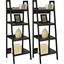 wooden ladder shelving leaning ladder bookcase solid wood ladder bookshelf avenue greene grey ladder storage office wall