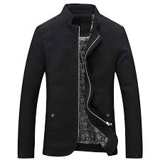 YOUTHUP <b>Men's Jacket</b> Stand Collar Lightweight Casual <b>Jackets</b> ...