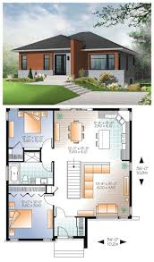 images about Modern House Plans on Pinterest   Modern house     Modern  HousePlan   A simple roofline  architectural entry accent and modern windows