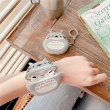 For AirPods Pro Case 3D Totoro Wristband Watchband Cartoon <b>Soft</b> ...