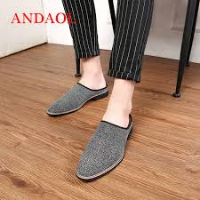 2019 <b>ANDAOL Men'S</b> Slippers Top Quality Pointed Toe Business ...