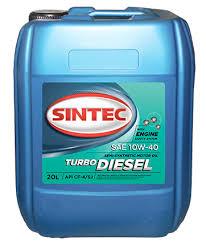 <b>Моторное масло</b> SINTEC Turbo Diesel SAE 10W-40 <b>API</b> CF-4/CF/SJ