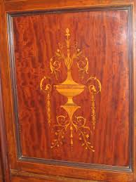 antique english marquetry inlaid solid mahogany edwardian armoire antique mahogany armoire