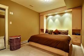 bedroom wall lights interesting basement bedroom decorating ideas with brown theme and lighting basement bedroom lighting ideas