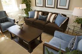 living room trendy living room interior design in dark brown and blue one dark brown images blue dark trendy living room