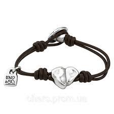 """Кожаный <b>браслет</b> c посеребренным сердцем <b>UNOde50</b> """"<b>Cupid</b> ..."""