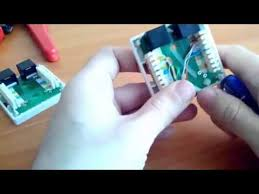Подключение <b>сетевого кабеля</b> к двух портовой розетке - YouTube